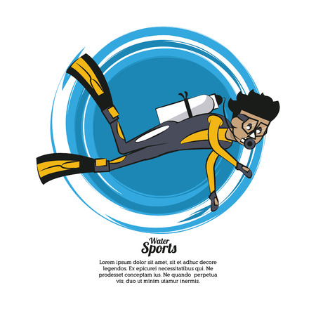 Man diving infographic vector illustration graphic design