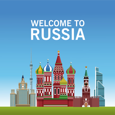 Welcome to russia concept vector illustration graphic design