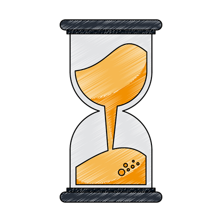 Hourglass with sand vector illustration graphic design Illustration