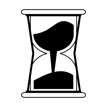 Hourglass with sand vector illustration graphic design 일러스트