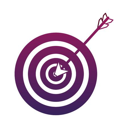 Target dartboard symbol vector illustration graphic design Vettoriali