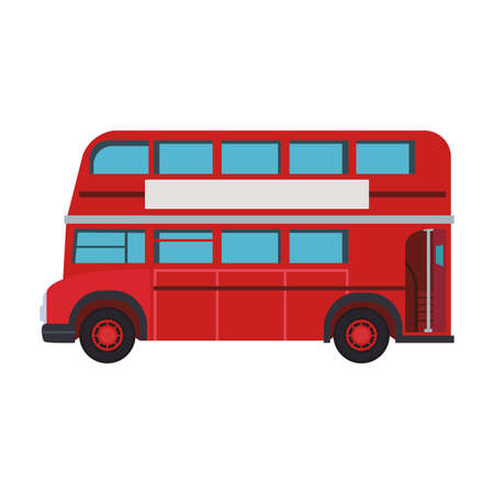 London bus isolated vector illustration graphic design Illustration