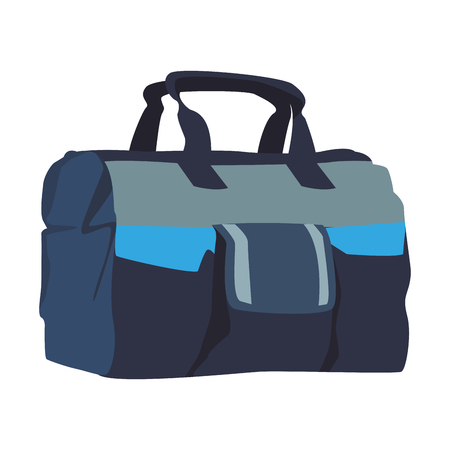 Sport bag isolated vector illustration graphic design Vectores