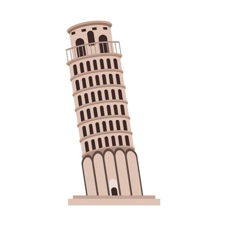 Pisa tower monument vector illustration graphic design