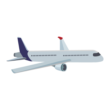 Jet airplane isolated vector illustration graphic design