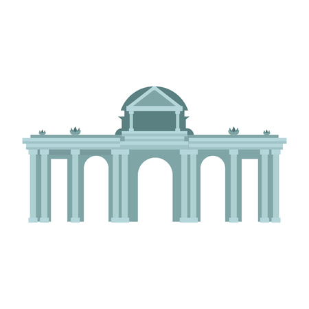 Greek temple building vector illustration graphic design