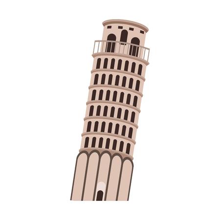 ピサタワーモニュメントベクターイラストグラフィックデザイン