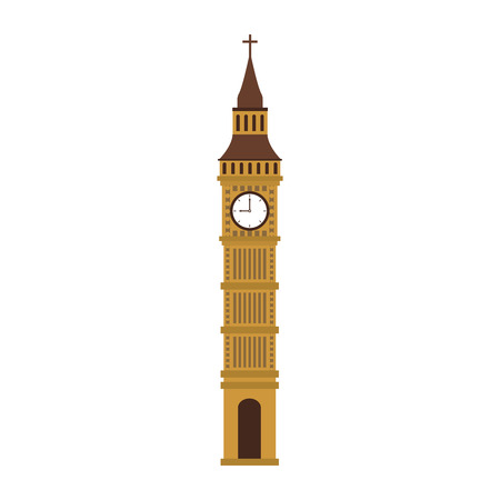 Big ben clock vector illustration graphic design