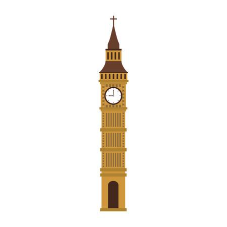 Big ben clock vector illustration graphic design