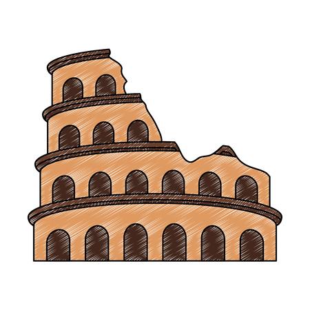 Rome coliseum monument vector illustration graphic design