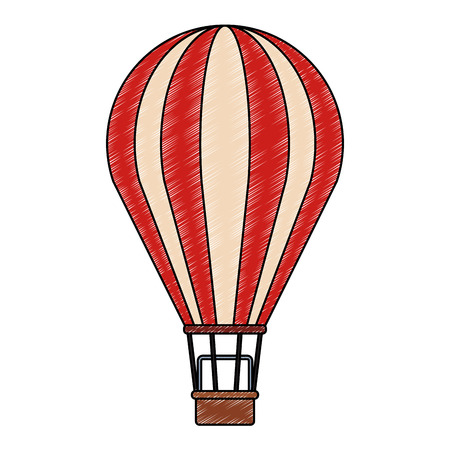 Hot air balloon vector illustration graphic design
