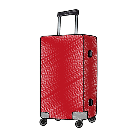 Travel lugage with wheels vector illustration graphic design Illustration