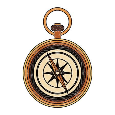 Vintage navigation compass vector illustration graphic design Illustration