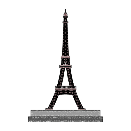 Eiffel tower monument vector illustration graphic design 向量圖像