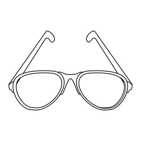 Glasses accesory isolated vector illustration graphic design Vector Illustration