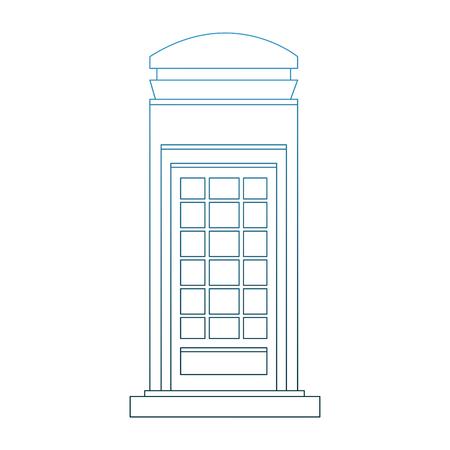 Londen grafisch ontwerp van de de telefooncabine het vectorillustratie