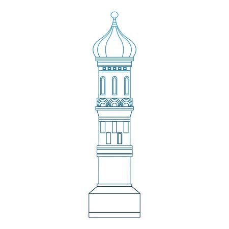 Kremlin tower building vector illustration graphic design Stock Vector - 99884451