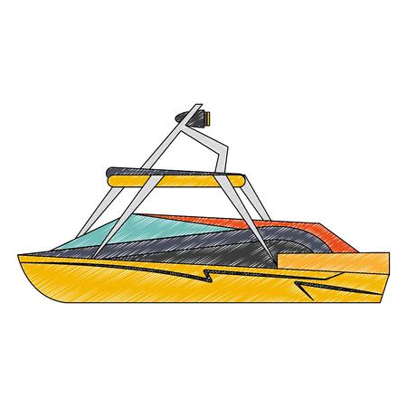 Racing sport boat vector illustration graphic design Illustration
