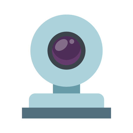 Webcam technology symbol vector illustration graphic design