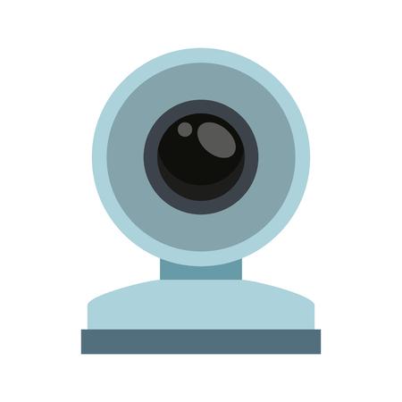 Conception graphique de webcam technologie symbole vector illustration