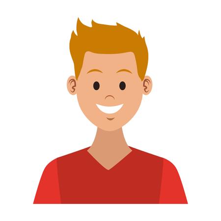 Young man cartoon vector illustration graphic design. Illustration