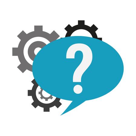 Chat Support service symbol vector illustration graphic design.
