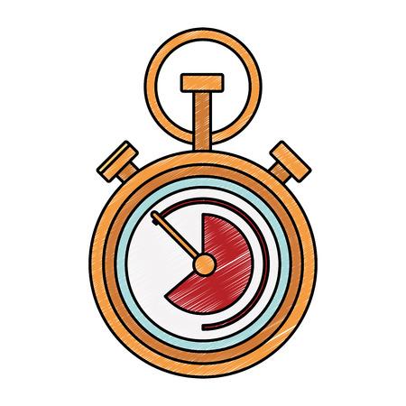 Retro chronometer symbol vector illustration graphic design