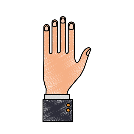 Business hand pointing up vector illustration graphic design