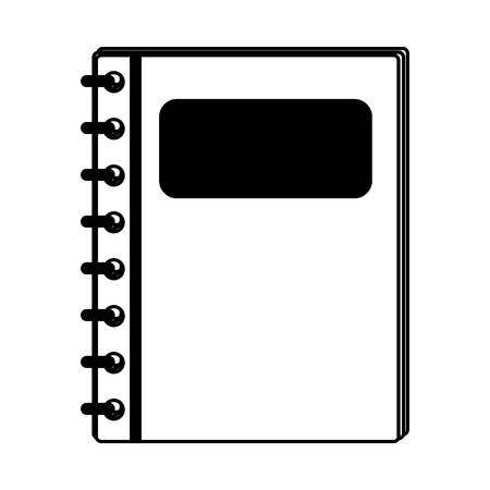 Address book symbol vector illustration graphic design Ilustrace
