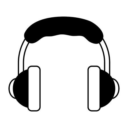 Music headphones device vector illustration graphic design Ilustração