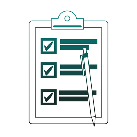 Checklist with pen vector illustration graphic design