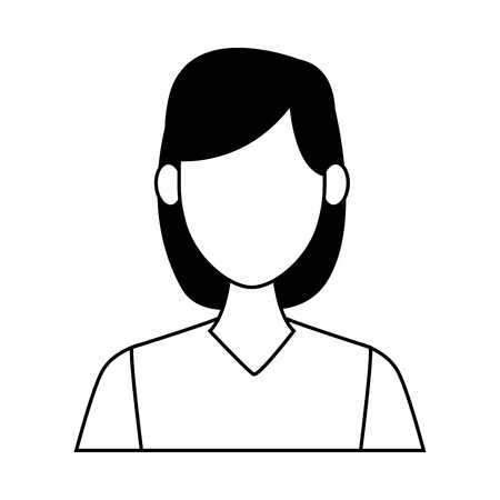 Young woman cartoon vector illustration graphic design Illustration