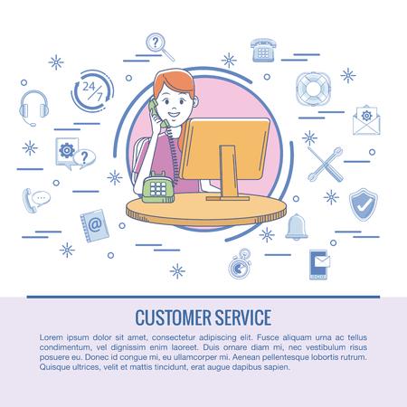 Customer service infographic vector illustration graphic design Illustration