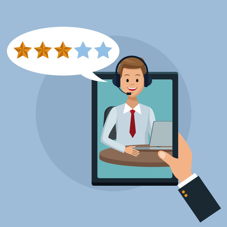 High quality customer service concept. Illustration