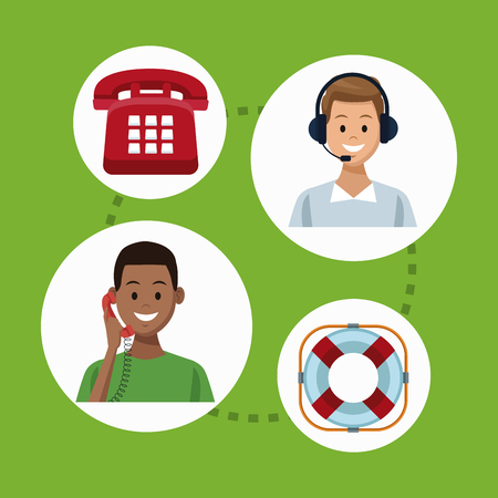Set of customer service icons collection.