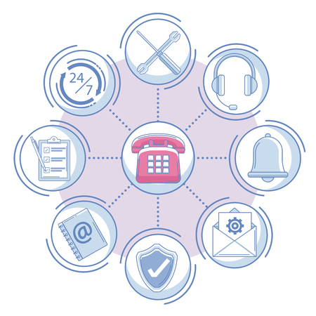 Set of customer service icons collection vector illustration graphic