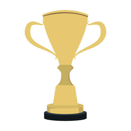 Trophy cup symbol vector illustration graphic design