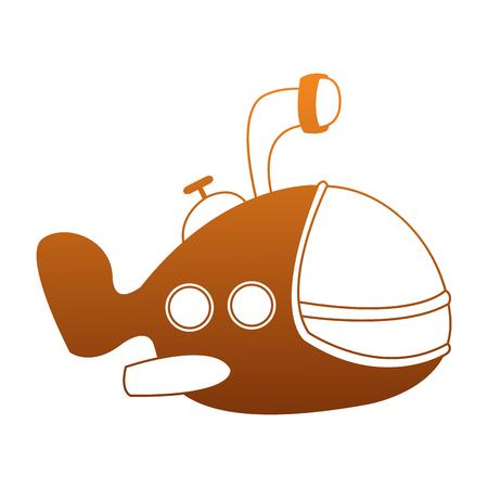 Funny submarine cartoon vector illustration graphic design Illustration