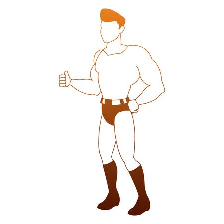 Male superhero cartoon vector illustration graphic design.