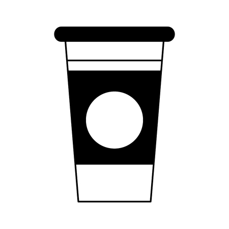 Coffee to go cup vector illustration graphic design Çizim