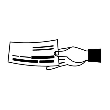 Had holding check vector illustration graphic design