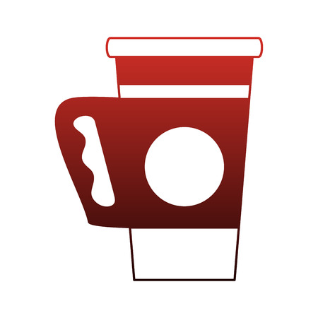 Coffee to go cup vector illustration graphic design.