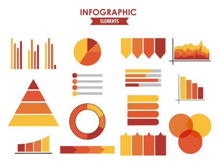 Infographic statistics elements vector illustration graphic design