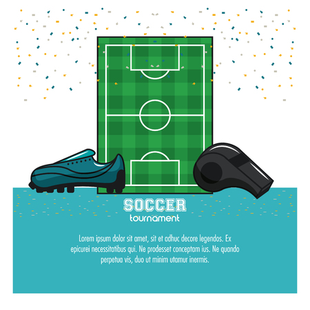 Soccer tournament infographic with elements vector illustration graphic design 일러스트