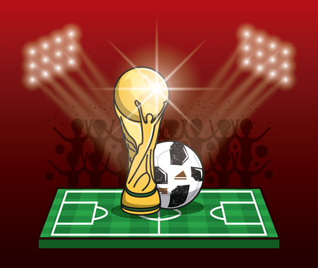 Soccer tournament info-graphic with elements vector illustration graphic design. Ilustração