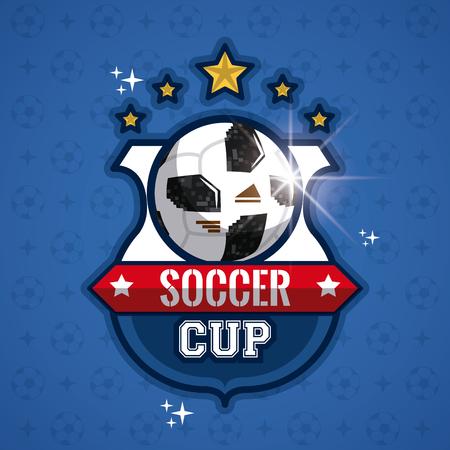 Soccer cup vector illustration graphic design. Vector Illustratie