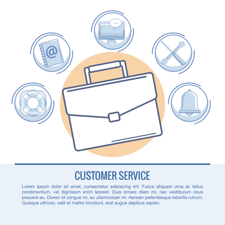Customer service and support infographic concept vector illustration graphic design Illustration