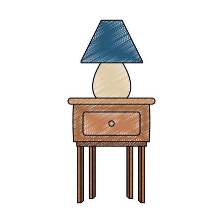 Light lamp on desk vector illustration graphic design