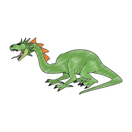 dragon fantastic creature cartoon vector illustration graphic design
