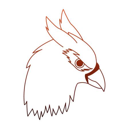 Hippogriff head fantastic creature cartoon vector illustration graphic design